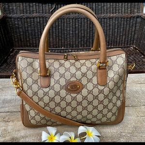 Authentic Gucci Vintage Browns 2way Bag🧜🏼‍♀️